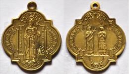 MED 93 - ANTICA MEDAGLIA  - S. AMBROGIO / S. GERVASIO E PROTASIO 1897 - DIAMETRO Mm. 22x25 - Religión & Esoterismo
