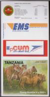 "Tanzania Booklet ""Serengeti National Park, Lions Wild Cat / Cats Of Prey  Self Adhesive - Big Cats (cats Of Prey)"