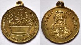 MED 101 - ANTICA MEDAGLIA  - MARIA BAMBINA IN MILANO / S. CUORE DI GESU - DIAMETRO Mm. 24 - Religión & Esoterismo