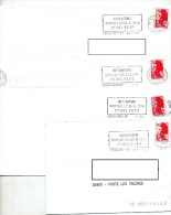 Lettre Flamme Lyon Hospice 4 Types - Postmark Collection (Covers)