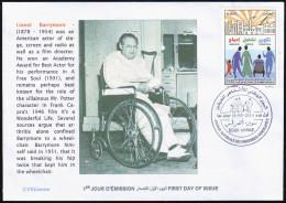 ALGERIE ALGERIA 2014 - FDC Lionel Barrymore Actor Disabled Handicap Handicapés Behinderten Discapacitados - Cinema
