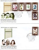 SRI LANKA. N°1825-30 Sur 2 Enveloppes 1er Jour De 2012 (FDC's). Acteurs De Cinéma.