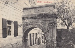 Trieste - Arco Ricardo, Animato - Francobollo Austriaco - 1909    (100831) - Trieste
