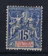 Anjouan: Yvert 6 MH/* - Unused Stamps