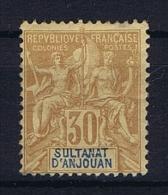 Anjouan: Yvert 9 MH/* - Unused Stamps