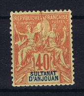 Anjouan: Yvert 10 MH/* - Anjouan (1892-1912)