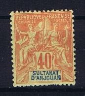 Anjouan: Yvert 10 MH/* - Unused Stamps
