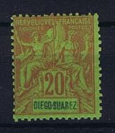 Diégo-Suarez: Yv. 44 MH/* - Diégo-Suarez (1890-1898)