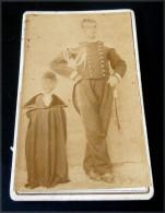 FOTO ORIGINALE - REALE CARABINIERE   1870 ?? STUDIO GIOVANNI SALAMO NICASTRO - Guerre, Militaire