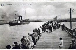 Ostende. L'Estacade Et Le Depart De La Malle - Oostende