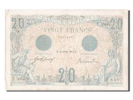 [#203252] 20 Francs Type Bleu, 16 Janvier 1913, Fayette 10.3 - 1871-1952 Antichi Franchi Circolanti Nel XX Secolo