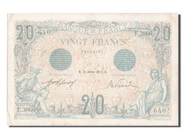 [#203252] 20 Francs Type Bleu, 16 Janvier 1913, Fayette 10.3 - 1871-1952 Gedurende De XXste In Omloop
