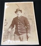 FOTO ORIGINALE - ACCIATORE DEGLI APPENNINI?? PRE  1870 ??  STUDIO MARZOCCHINI  LIVORNO - Guerre, Militaire