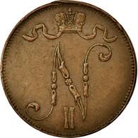 Monnaie, Finlande, Nicholas II, 5 Pennia, 1911, TTB+, Cuivre, KM:15 - Finlandia