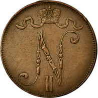 Monnaie, Finlande, Nicholas II, 5 Pennia, 1911, TTB+, Cuivre, KM:15 - Finlande