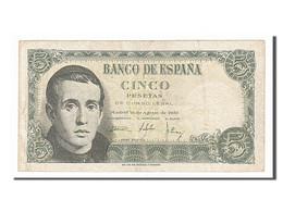 Espagne, 5 Pesetas Type Balmes - [ 3] 1936-1975 : Régence De Franco