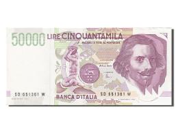 Italie, 50 000 Lire, Type G. L. Bernini - [ 2] 1946-… : République