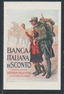 CPA Banca Italiana Di Sconto, Ital. Soldat Avec Mädchen - Non Classificati