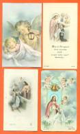 Lot De 4 Images Pieuse Angelots - Devotion Images