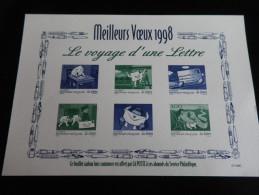 Feuillet MEILLEURS VOEUX 1998 Voyage D'une Lettre - Sonstige