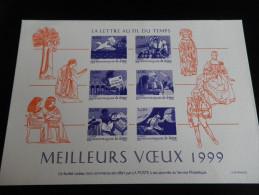 Feuillet MEILLEURS VOEUX 1999 Lettre Au Fil Du Temps - Sonstige