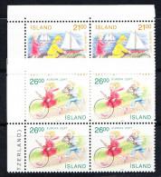 ISLANDIA  1989 .EUROPA-CEPT . BLOQUE DE 4   NUEVO SIN CHARNELA. SES 282 - Europa-CEPT