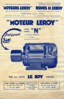 Moteurs LEROY  Usines M. LEROY  Angoulème (Charente) - Serie Fermée N - - Publicités