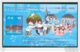 Bloc De China Chine : (32) 1997 Hong Kong - Jeux Olympiques Paralympiques- Ete 1996 Atlanta SG MS898** - 1997-... Sonderverwaltungszone Der China