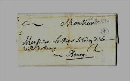 * ROYAUME DE FRANCE *BOURGOGNE ( Côte D'Or ) – DIJON Tarif Du 1.5.1676 (Appl. Juin 1676) Au 31.12.1703 Voie - Marcophilie (Lettres)