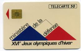 Télécarte 50 Unites Ministere De La Défense XVI E Jeux Olympiques D'hiver 11/91 (lot 30) - Unclassified
