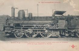 LES LOCOMOTIVES (Orleans) - N° 51 - MACHINE N° 446 -  A ESSIEUX ACCOUPLES ET ESSIEU PORTEUR (SERIE 3401 A 447) - Trains