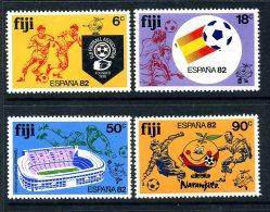 Fiji 1982 Football World Cup Set Of 4, MNH (A) - Fiji (1970-...)