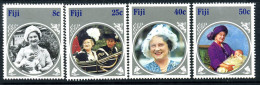 Fiji 1985 Life & Times Of The Queen Mother Set Of 4, MNH (A) - Fiji (1970-...)