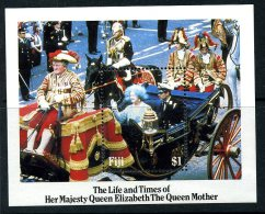 Fiji 1985 Life & Times Of The Queen Mother MS, MNH (A) - Fiji (1970-...)