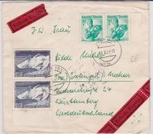 AUTRICHE - 1957 - ENVELOPPE EXPRES De WIEN Pour ESSLINGEN - 1945-60 Brieven
