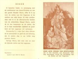 Devotie Prentje Onze Lieve Vrouw Van Montligeon - Zepperen - Religion & Esotérisme