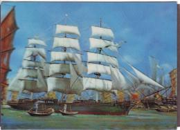 Sailing Ship. 3D Card. 1970s - Veleros