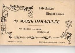 CARNET DE 12 C P A --CATECHISTES MISSIONNAIRES DE MARIE-IMMACULEE-inde Kumbakonam-voir 14 Scans - Christianisme