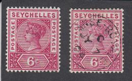 Seychelles 1897 6c  SG29   MH + Used - Seychelles (...-1976)