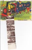CPSM DEPLIANT A SYSTEME AMELIE LES BAINS TRAIN LOCOMOTIVE GABY 1958 - Mechanical