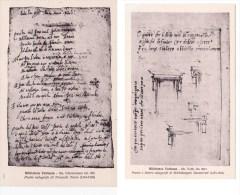 *Lotto Due Cartoline Formato Piccolo Biblioteca Vaticana Poesie Autografe Michelangelo Buonarroti E Torquato Tasso - Antiquité