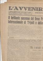 C1393- Giornale L'AVVENIRE DI TRIPOLI 5 Maggio 1934 - GUERRA/GRAN PREMIO AUTOMOBILISTICO TRIPOLI E LOTTERIA DEI MILIONI - Automobile - F1