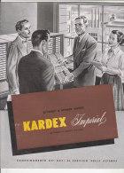 C1400 - Brochure ARREDAMENTO UFFICIO Anni '50 - SCHEDARI A SCHEDE VISIBILI KARDEX IMPERIAL - PUBBLICITA' - Altre Collezioni