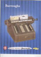C1405 - Brochure MACCHINA CONTABILE SENSIMATIC BURROUGHS Anni '50 - PUBBLICITA' MACCHINE DA SCRIVERE CALCOLO CALCOLATORI - Altre Collezioni