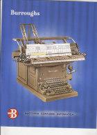 C1406 - Brochure MACCHINA CONTABILE AUTOMATICA BURROUGHS Anni '50 - PUBBLICITA' MACCHINE DA SCRIVERE CALCOLO CALCOLATORI - Altre Collezioni