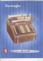 C1408 - Brochure MACCHINA CONTABILE SENSIMATIC BURROUGHS Anni '50 - PUBBLICITA' MACCHINE DA SCRIVERE CALCOLO CALCOLATORI - Altre Collezioni