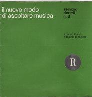 C1411 - Brochure RICORDI - IMPIANTI ALTA FEDELTA' - STEREO - REGISTRATORI - RADIO GIRADISCHI  1965 - PUBBLICITA' - Altri Apparecchi