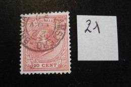 Pays-Bas - Années 1872-88 - Guillaume III 10c Rose - Y.T. 21 - Oblitéré - Used - Gestempeld - 1852-1890 (Guillaume III)