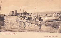 Landing at Sidon (Sa�da) , Syria (now Lebanon) , 1900-10s
