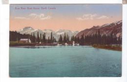 Canada BANFF Bow River Boat House - Banff